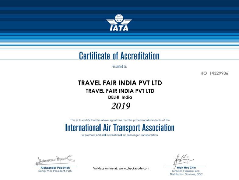 iata certification transport international certificate approved association